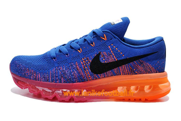 online store cc83e ceff7 Nike Flyknit Air Max GS Chaussures Nike Running Pas Cher POur Femme  Bleu/Rose/