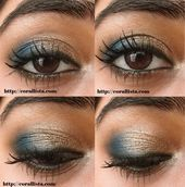 Photo of Festliches Türkis und Bronze Augen Make-up Tutorial Festliches Türkis und Bronze e …