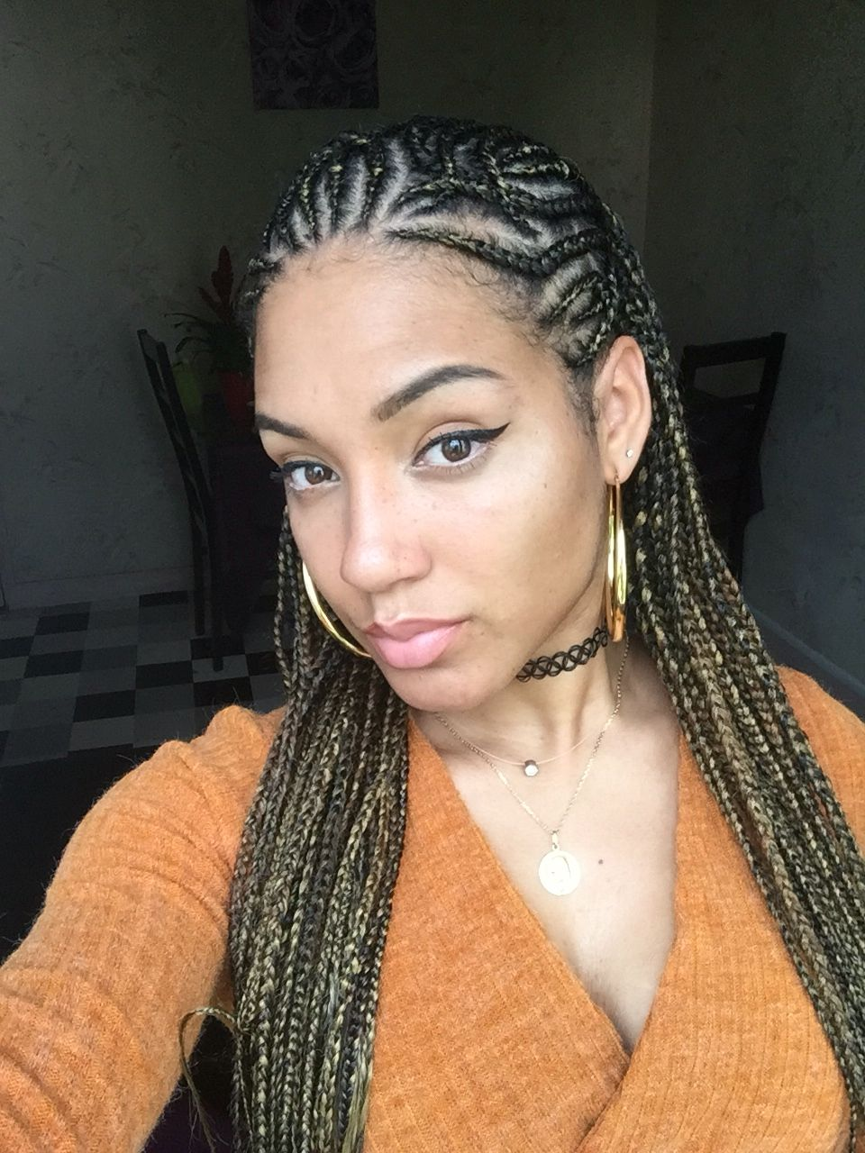 braid styles hair inspired look cornrows braids hair 9616
