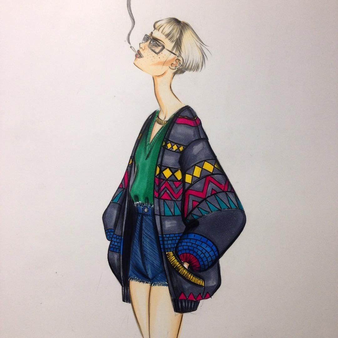 My favorite Berlin girl:) #fashion #fashionillustration #fashionillustrator #illustration #fashionart #style #art #drawing #artist #instaart #instaartist #karenwolf #karenushka #karenwolfillustrations #inspiration #Berlin #hipster