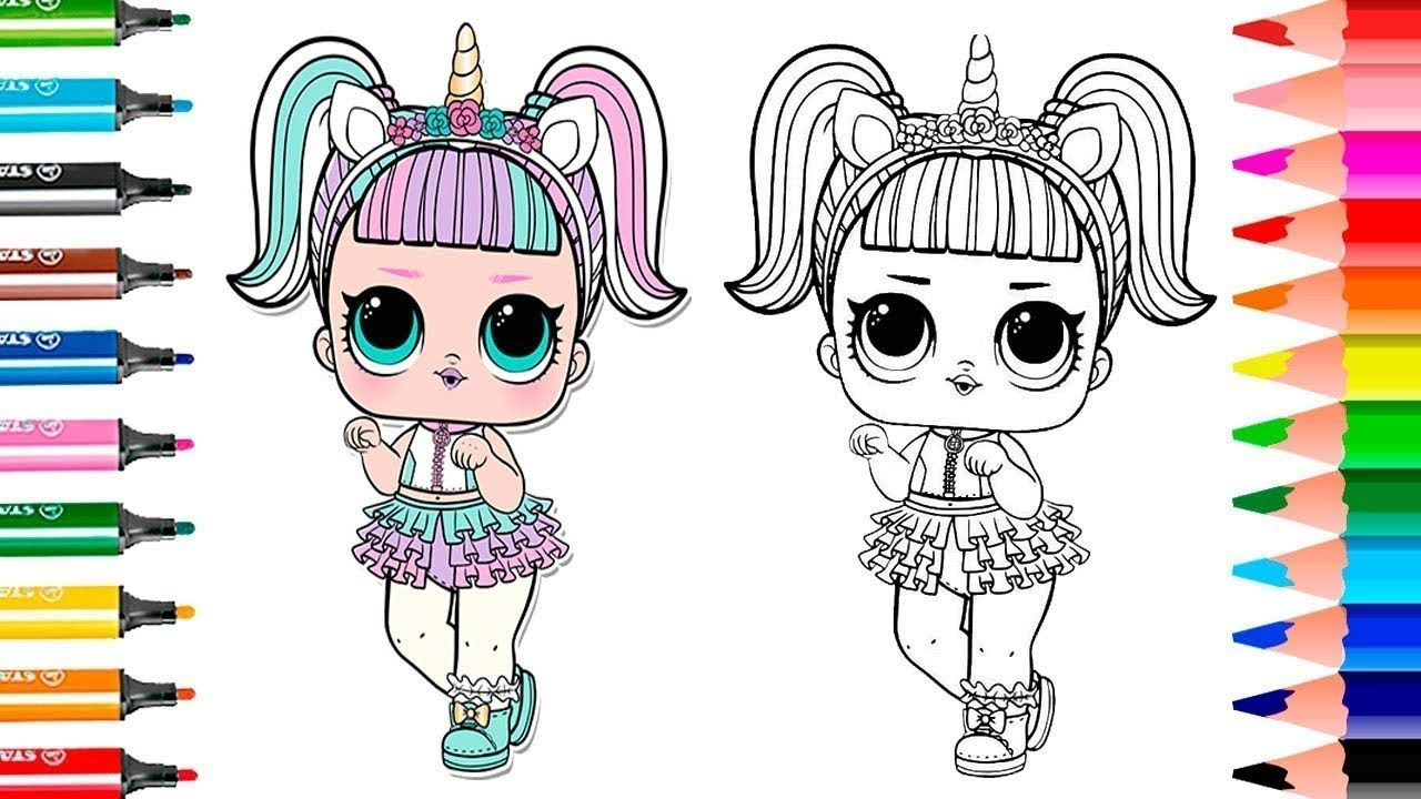 Lol Surprise Dolls Coloring Book Unicorn Toysgamesvideos Unicorn Coloring Pages Coloring Pages Coloring Books