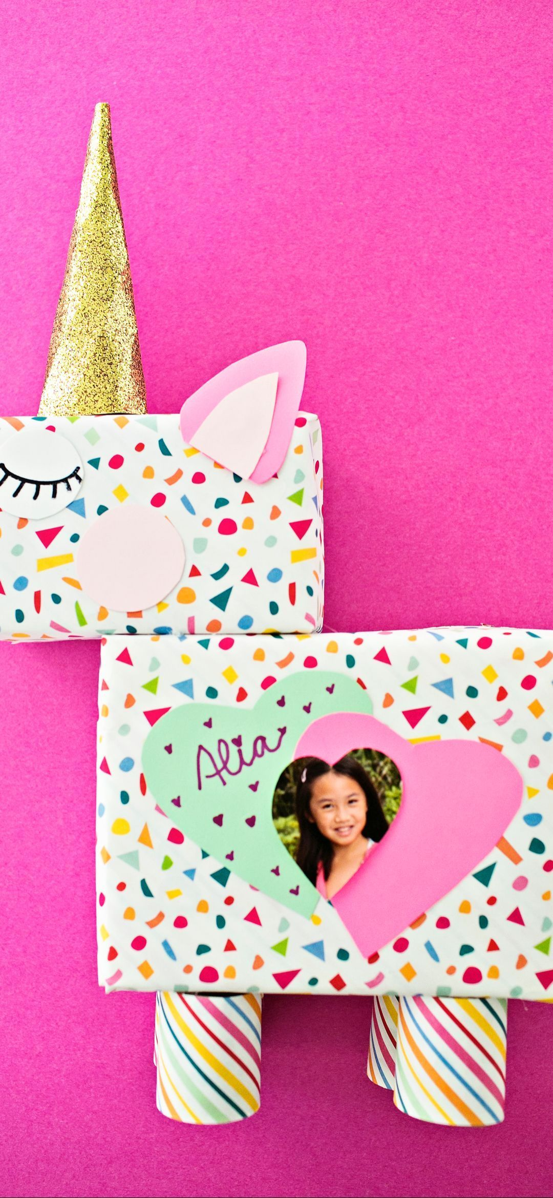 #valentines day crafts for kids art projects DIY Unicorn Valentine Box #cute valentines day cards diy #craftprojects