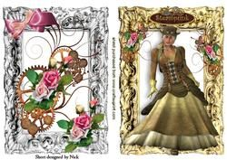 Steampunk Lady With Roses Toppers