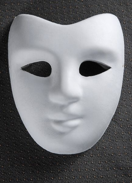 Plain Masquerade Masks To Decorate Blank Masks Paper Full Face  Party  Pinterest  Blank Mask
