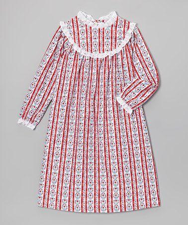 Look what I found on #zulily! Red Tyrolean Nightgown - Toddler & Girls by Komar #zulilyfinds