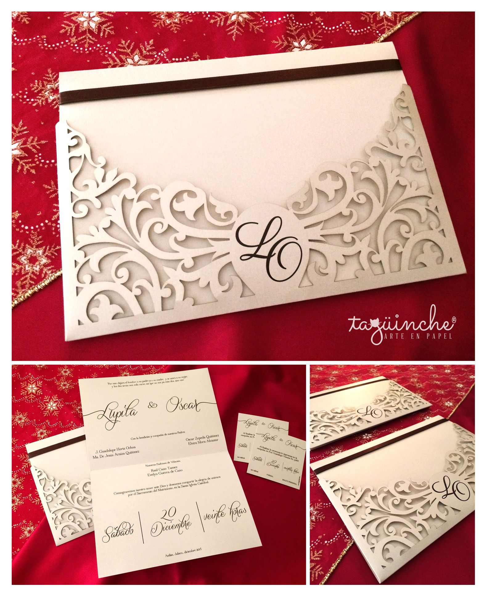 Invitaciones corte láser, Boda www.taguinche.com | cards | Pinterest ...