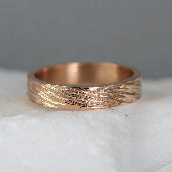 Rose Gold Men S Wedding Band 14k Rose Pink Gold Etsy In 2020 Mens Gold Wedding Band Gold Wedding Band 14k Gold Wedding Band