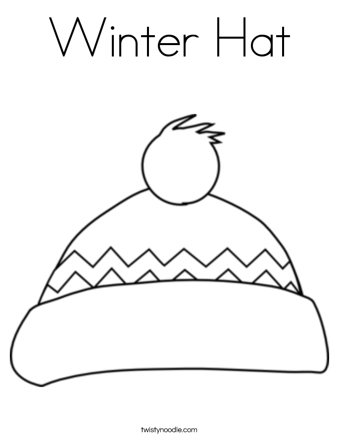 Winter Hat Coloring Page Twisty Noodle Coloring Pages Winter Winter Hats Coloring Pages