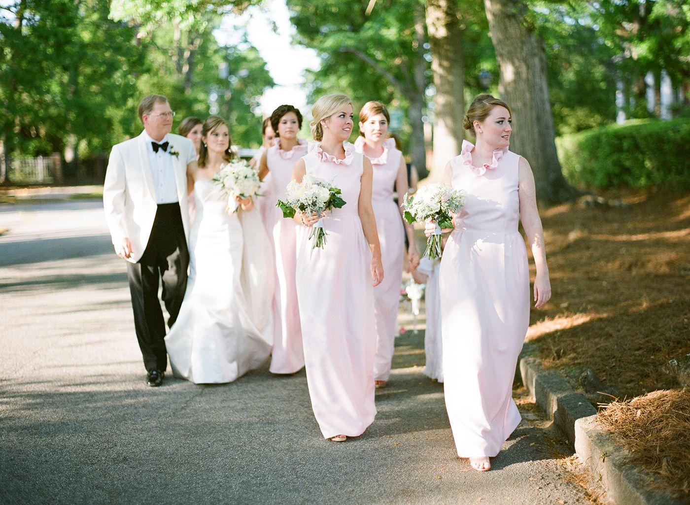 Pink Bridesmaids Dresses By Camilyn Beth. Augusta, GA Wedding.