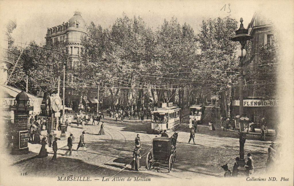 Détails sur CPA MARSEILLE Les Allees de Meillan (6378
