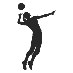 Volleyball Spike Position In 2020 Graphic Desi Graphic Image Graphic Resources