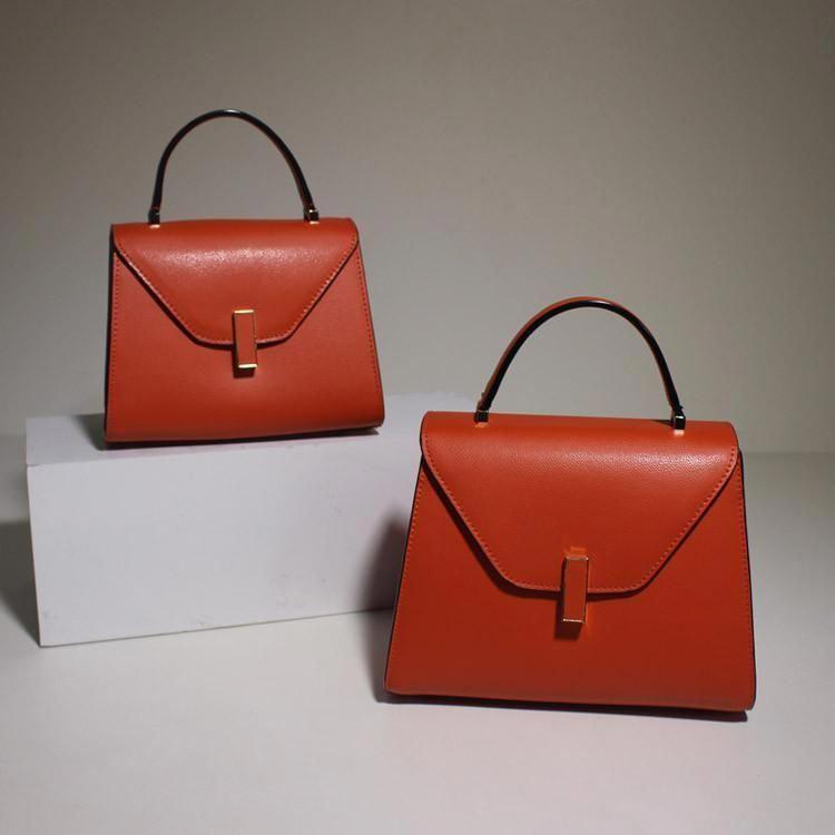 d4976aaf5427f Women's Fashion Orange Leather Handbag Shoulder Bag Cross Body Bag Satchel  Purse MY02 - LISABAG #WomensShoulderbags
