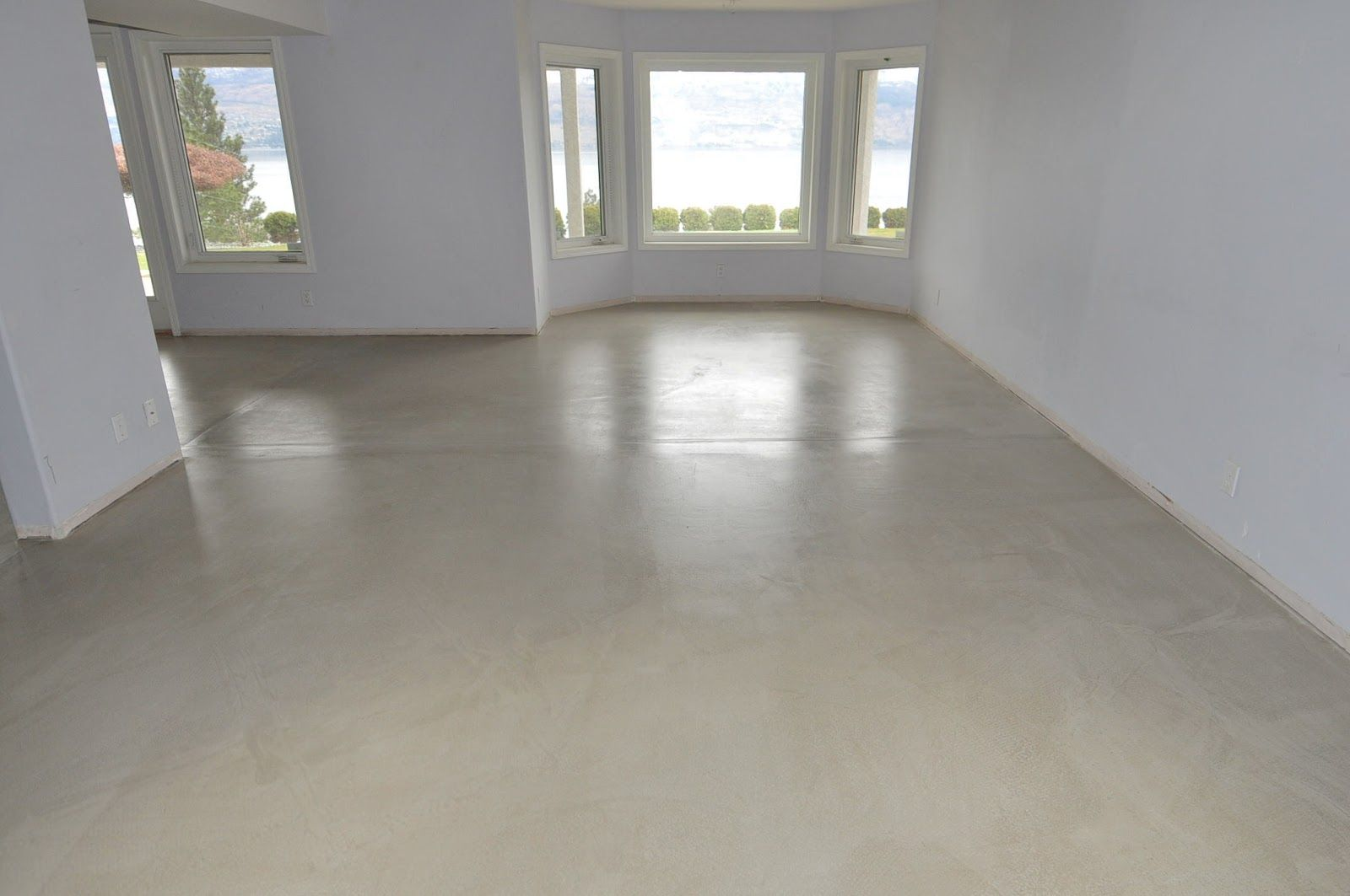 Ideas Cream Modern Concrete Floor Paint That Can Be Combined With White  Wall Can Add The Modern Touch Inside Modern House Design Ideas With  Minimalist ...