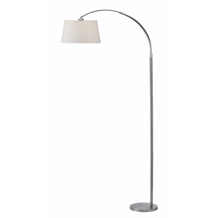Canarm 82 In Chrome 3 Way Downbridge Floor Lamp With Fabric Shade