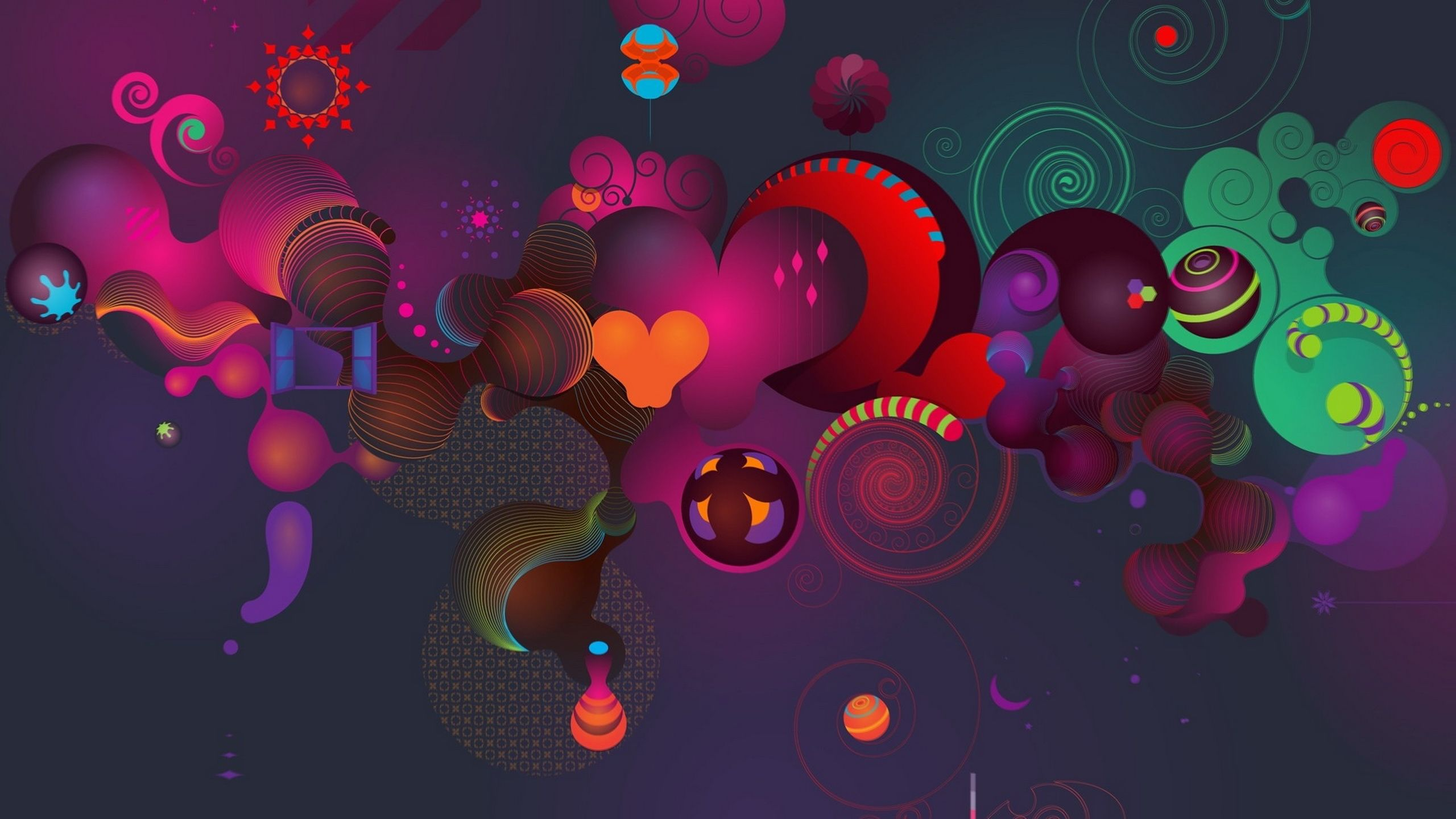 Colorful Love Abstract Backgrounds For Desktop 29191 Wallpaper