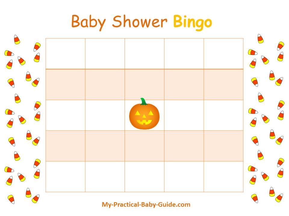 Free Printable Halloween Baby Shower Blank Bingo Cards Visit