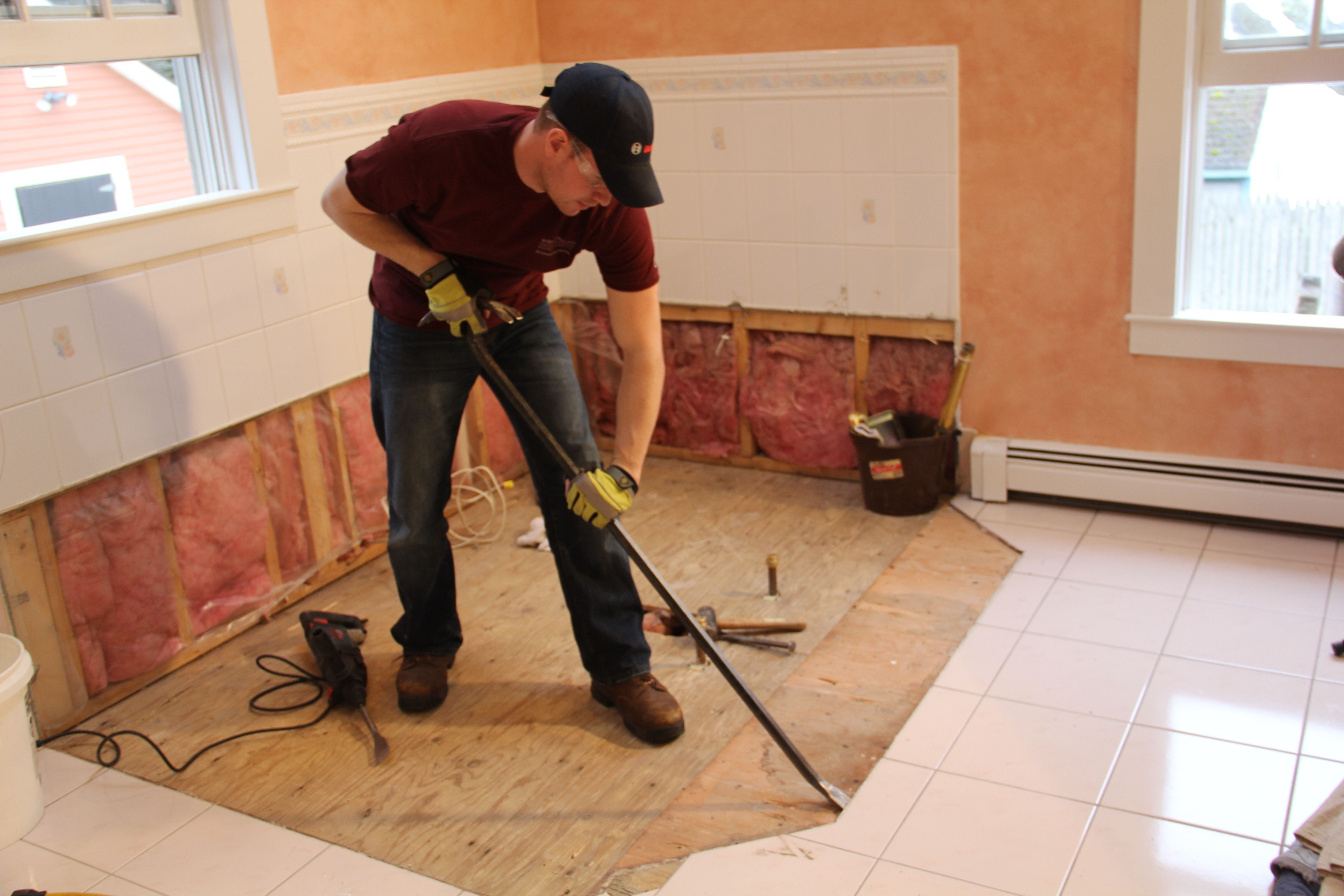 Ceramic tile floor underlayment interior decoration pinterest removing ceramic tile from wood floor dailygadgetfo Gallery