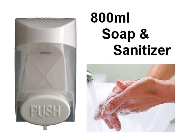 800ml Hand Soap And Sanitizer Dispenser Clear White To See The