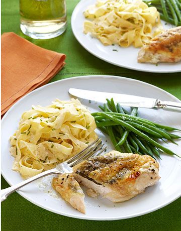 Ina 39 S Tagliarelle With Truffle Butter And Chicken Ina
