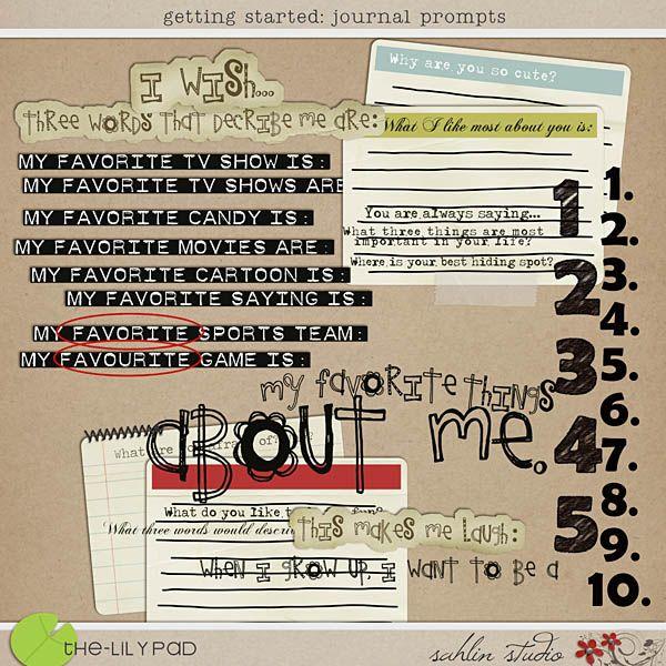 Getting Started - Journal Prompts by Sahlin Studio digi journal