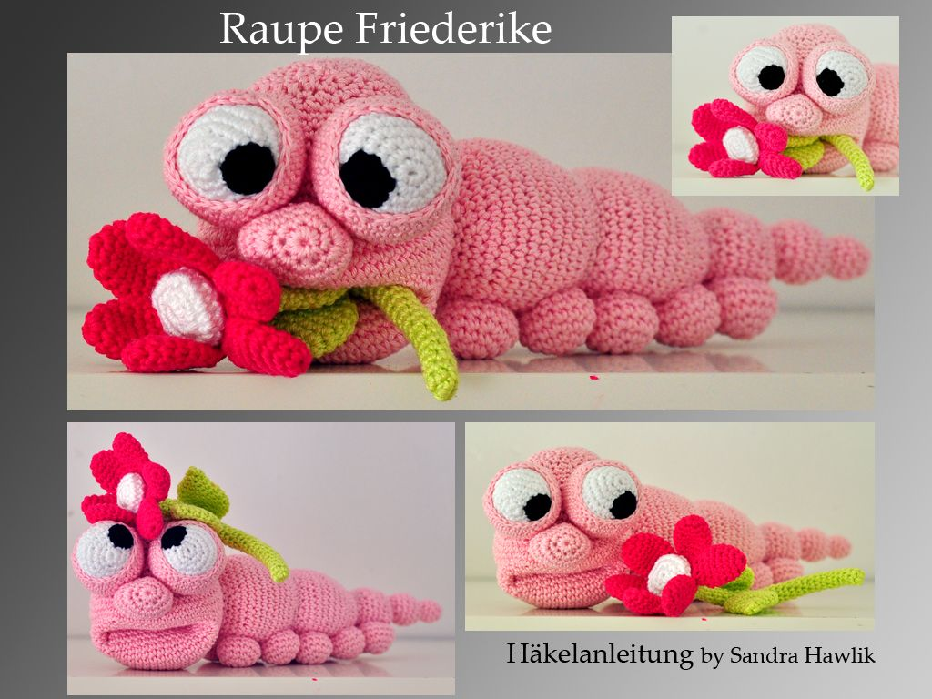 Häkelanleitung, DIY - Raupe Friederike - Ebook, PDF | Nähen ...