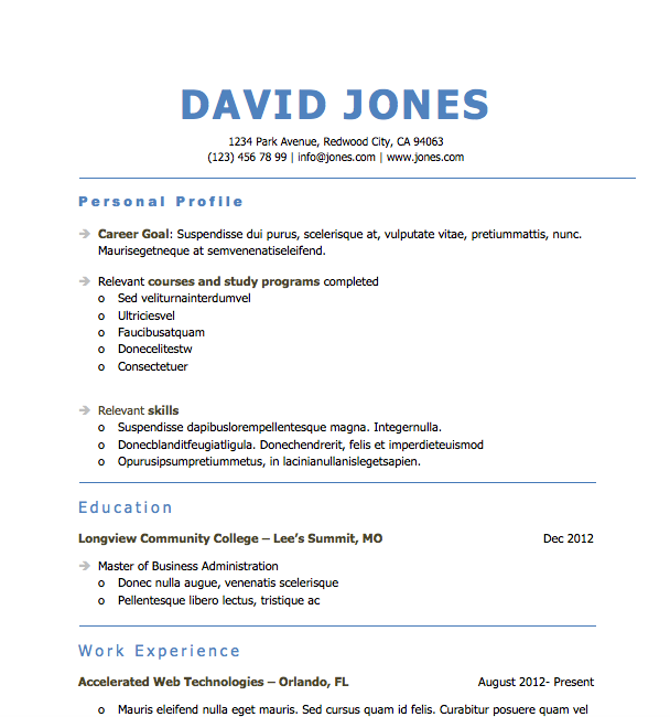 Free Resume Download Space It Out  Microsoft Word Format