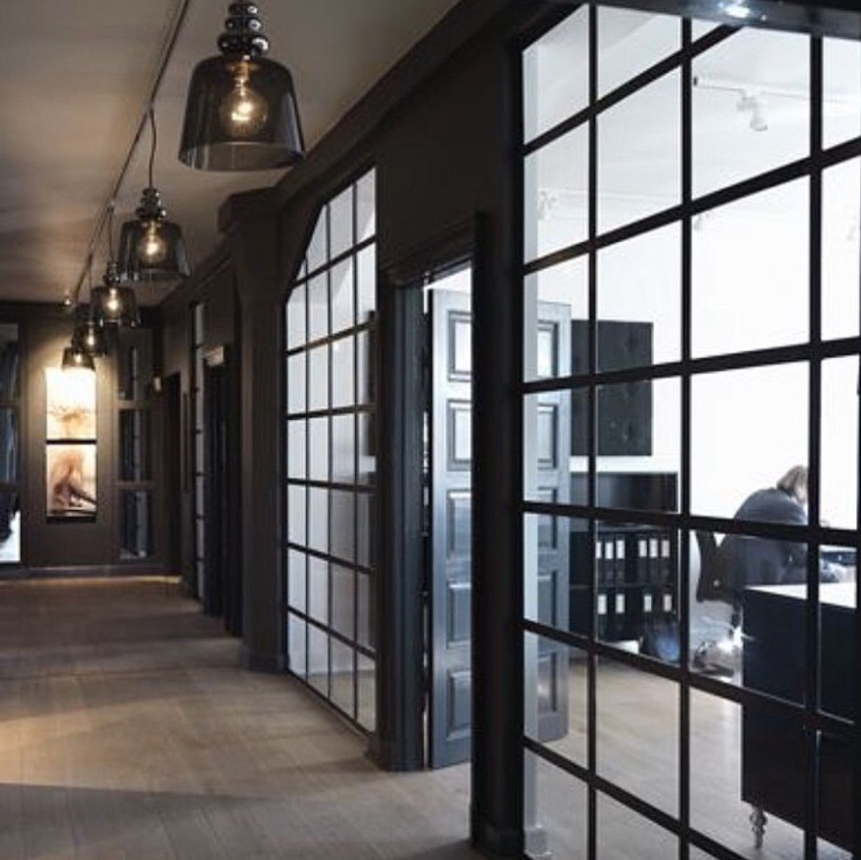 Office Love black window frames! | Interior Design | Pinterest ...