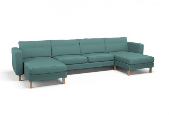 Photo of Cover for KARLSTAD 2 chaise longues + two-seat sofa – Event Robin's Egg Blue