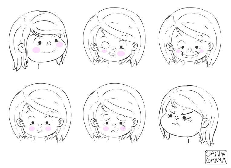 Para Niños De Dibujos Animados Caras Diferentes: Caricaturas