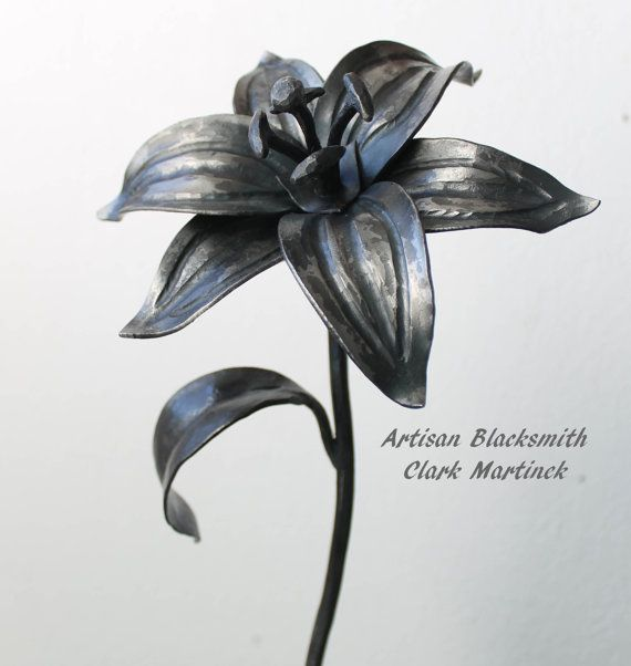 Iron Gift Lily Flower Personalized Iron Anniversary Gift