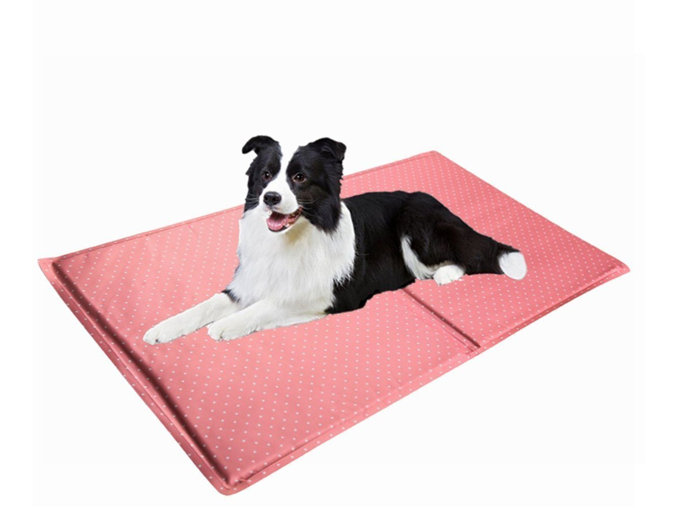 Elite Self Cooling Gel Ice Pad Mat Dog Cat Beds Beautiful Wave Dot Design Pet Sleeping Cooling Mat And People Seat Pillow Co Cat Beds And Furniture Ice P