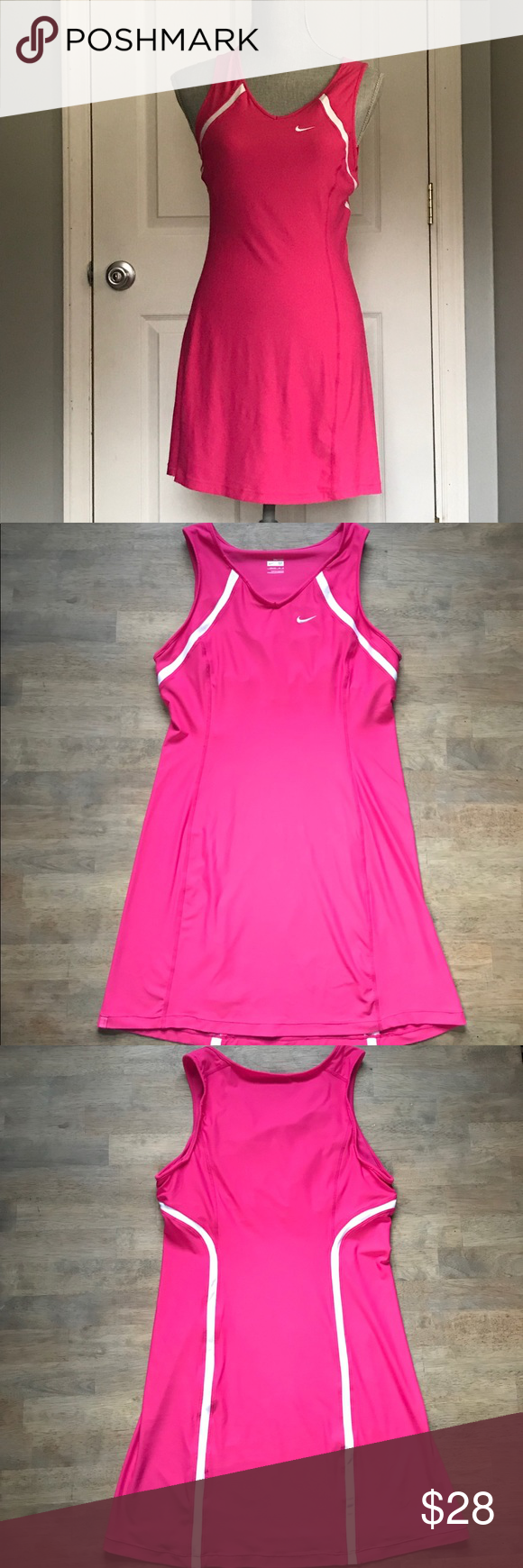 Nike Fit Dry Tennis Dress Pink And White Nike Tennis Dress In Great Condition No Known Stains Or Flaws Dress Has Bui Clothes Design Tennis Dress Nike Dresses