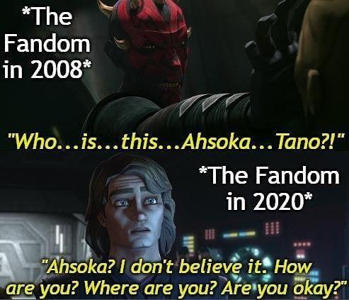 How Times Have Changed Star Wars Humor Star Wars Ahsoka Star Wars Memes