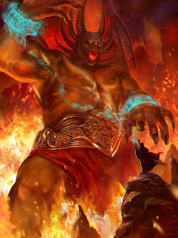 Fire demon by AnastasiaReddress on deviantART | Fantasy ...