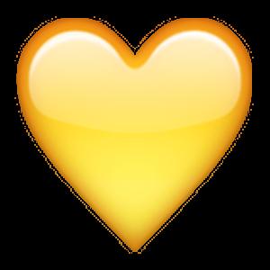Yellow Heart สต กเกอร กรอบร ป ศ ลปะ