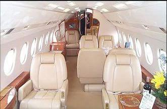 Falcon 900 private jet interior