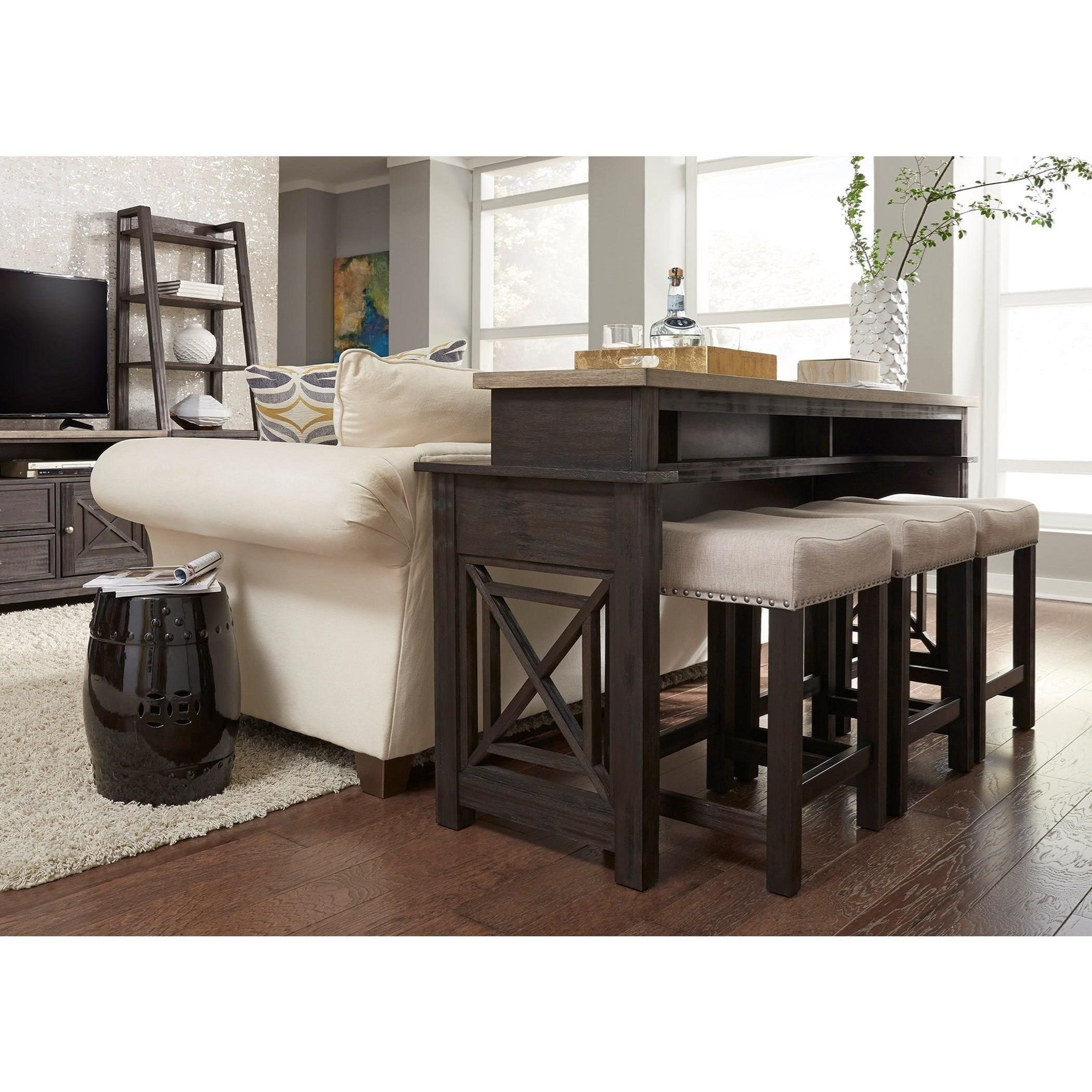 Place This Console Behind Your Sofa Or Use It In Your Kitchen Or Bar Space For A Multi Functional Piece That S Perf Liberty Furniture Furniture Bar Table Sets