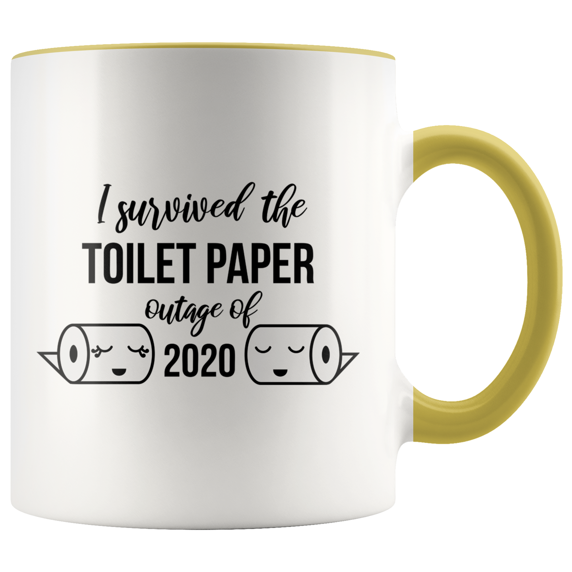 Toilet Paper Mug I Survived the Toilet Paper Outage of 2020 Mug Funny Toilet Humor TP Gag Gift for C