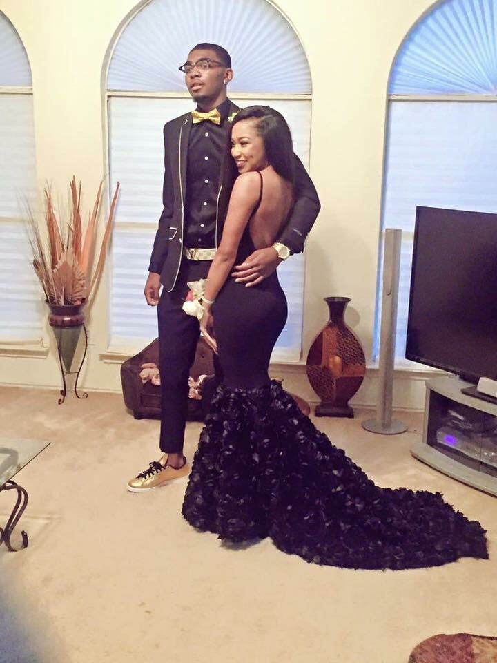 Black And Gold Prom Couples Prom Outfits Prom Tuxedo