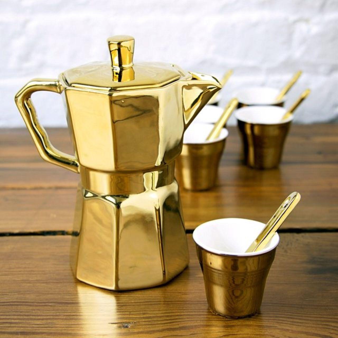 il caffè è oro ! Caffè, Caffettiera, Oro