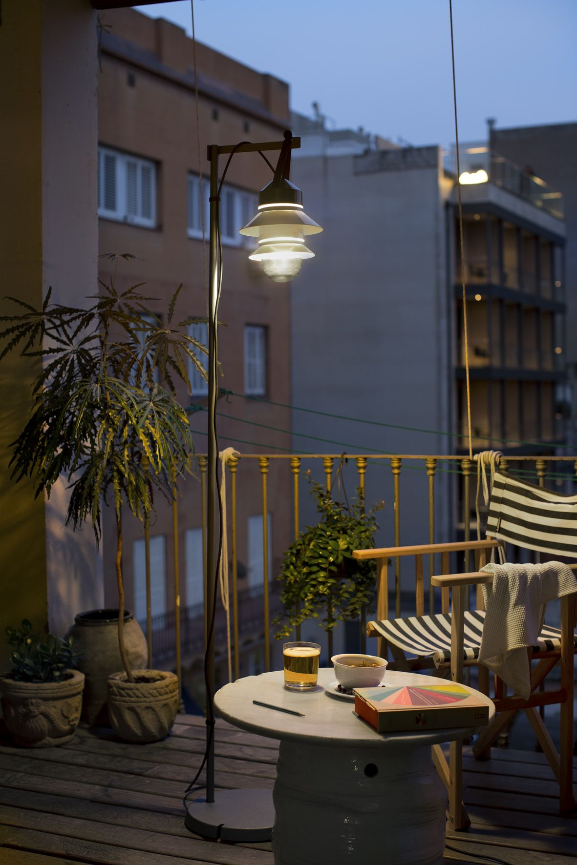 Best Santorini Outdoor Floor Lamp By Sputnik Estudio With Balcony