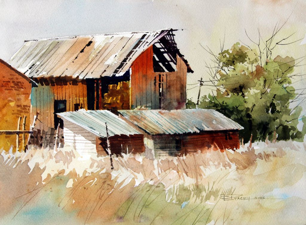 for Watercolor barn paintings