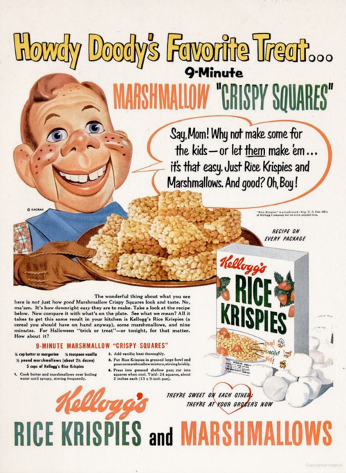 retro recipes 1950s cereal rice krispies 1950s 1951 vintage recipes vintage advertising