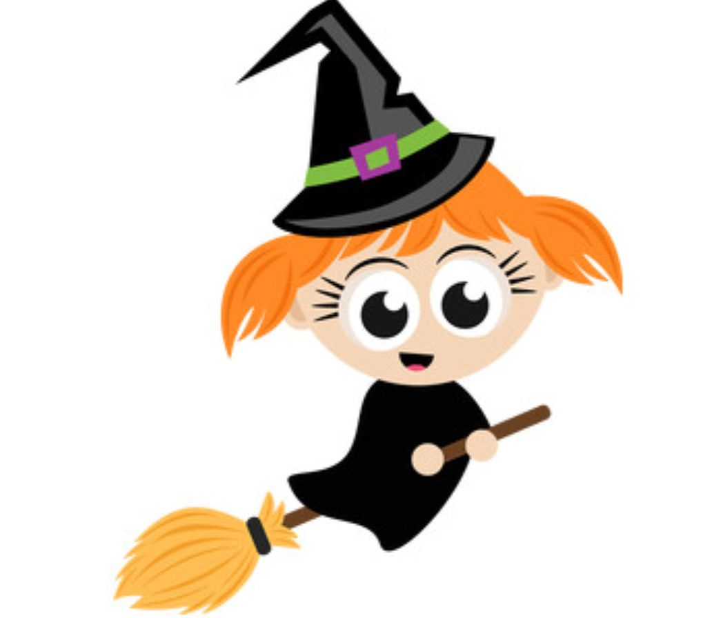 Cute Little Witch Miss Kate Cuttables Witch Clipart Halloween Flying Witch Halloween Witch