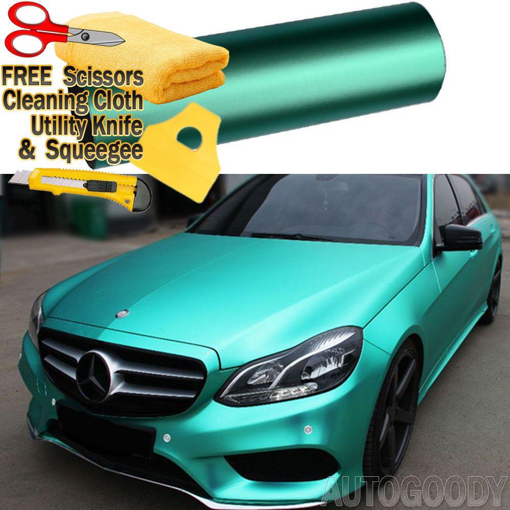 72 X 60 Satin Matte Chrome Metallic Teal Green Vinyl Film Wrap Bubble Free Ebay Tiffany Blue Car Custom Cars Paint Vinyl Wrap Car
