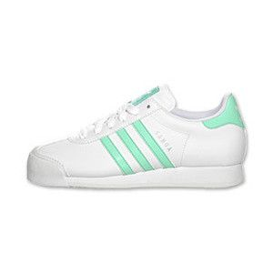 Adidas Superstar White With Green Stripes