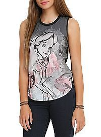 HOTTOPIC.COM - Disney Alice In Wonderland Floral Girls Muscle Top