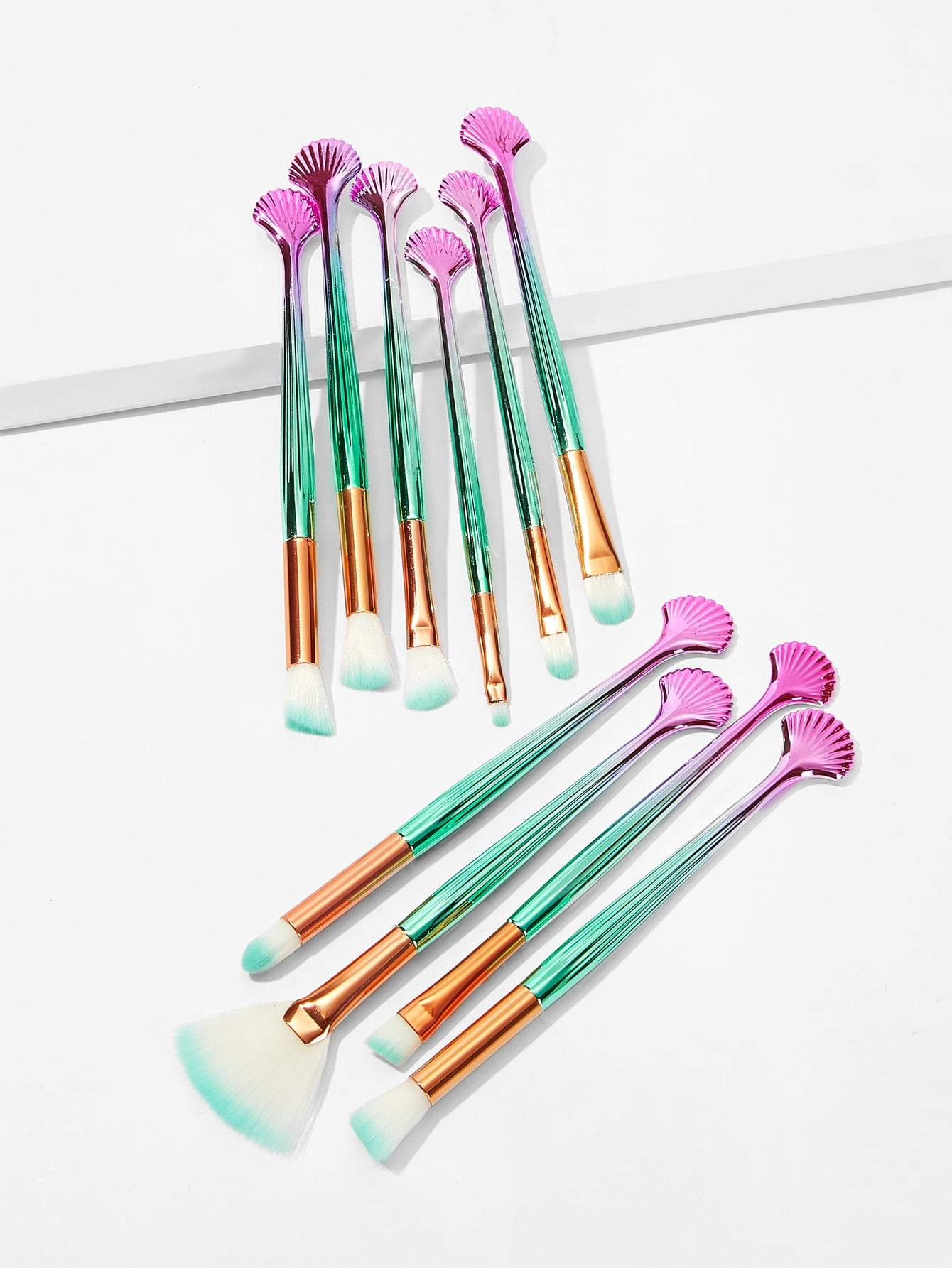 Shell Shaped Handle Makeup Brush 10pack Makeup brushes
