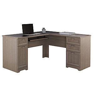 realspace magellan collection l shaped desk gray item 822239 rh pinterest com