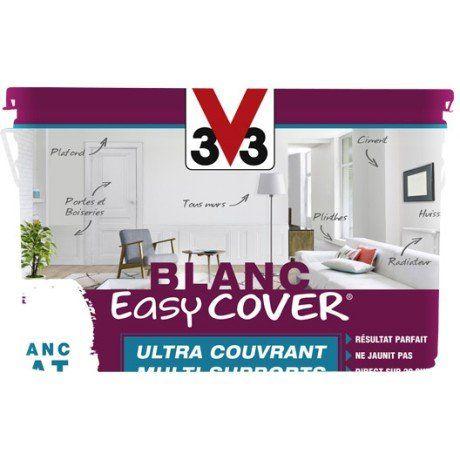 Peinture blanche mur, plafond et boiserie Easy cover V33, mat 5 l - peindre un meuble laque blanc